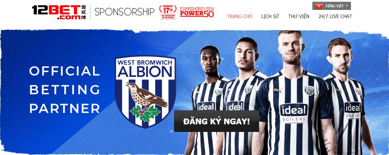 12Bet tài trợ West Bromwich Albion