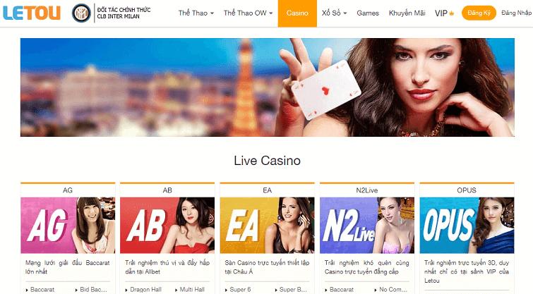 Casino tại nhà cái Letou