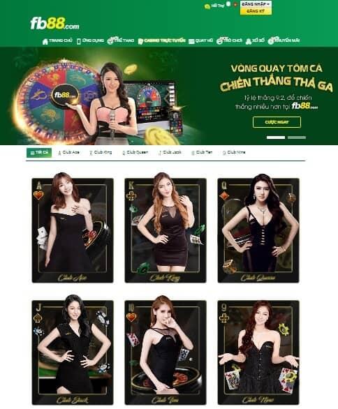 Casino được chia làm 6 club