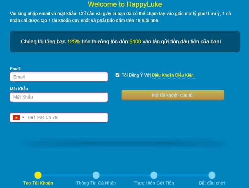 Các bước đăng ký tài khoản