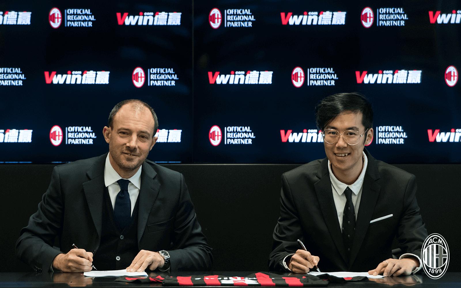 Nhà cái Vwin là đối tác của CLB AC Milan