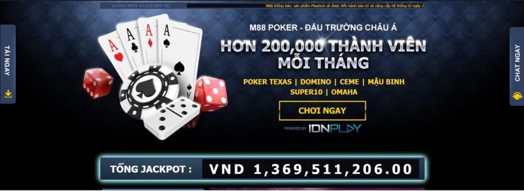 Poker tại M88