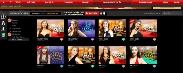 sảnh casino 12bet