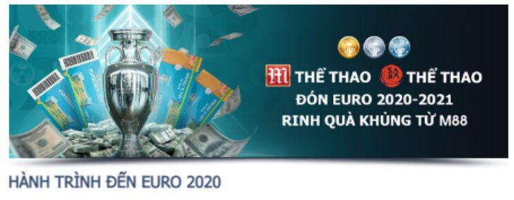 m88 hành trình đến euro 2020