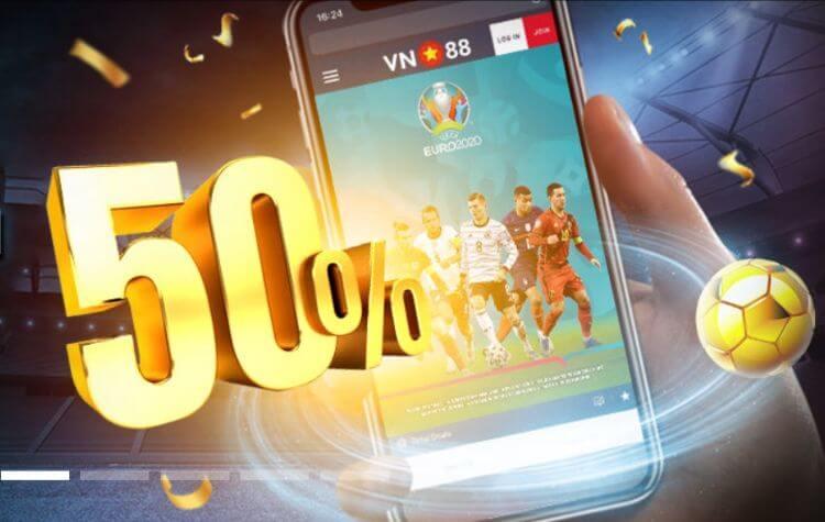 VN88 thưởng thêm 50% cược thắng