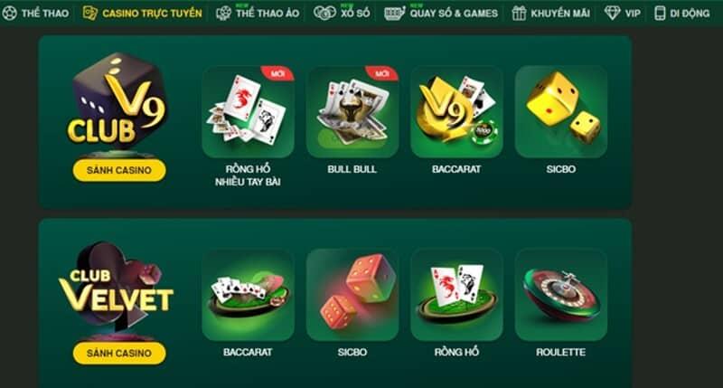 Thử sức với game bài đổi tiền thật tại V9Bet