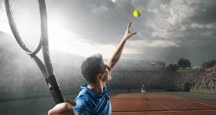 tay vợt chơi tennis